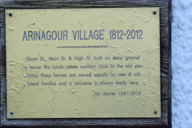 Plaque in Main Street