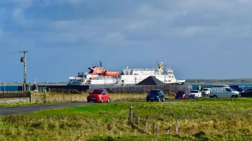 Traffic arriving on Tiree