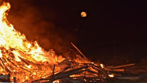 Bonfire and the Full Moon