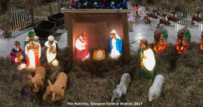 The Nativity - Glasgow Central Station