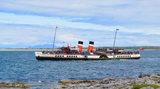 The Waverley visits to Tiree and the Gunna Sound