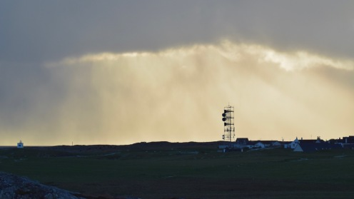 The wintry sky envelopes the BT Tower at Scarinish