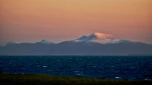 The views of Ben More on Mull capture the cold feel to the day