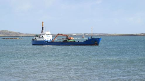 Fishing boat and Mv Burhou