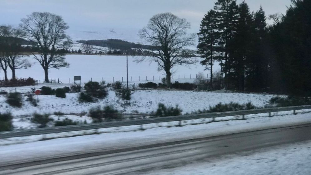 A snowy landscape at ‎⁨Auchterarder