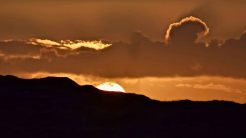 Sunrise over the Scarinish Headland