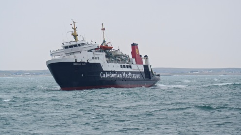 The MV Hebridean cants mainly due to wind and swell conditions