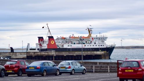 The MV Lord of the Isles from the Marshalling Lanes