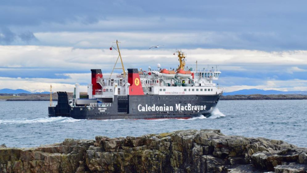 The MV Lord of the Isles heads out to sea bound for Oban via Coll
