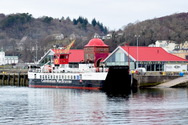 MV Loch Striven alongside the North Pier