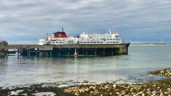 New Look Clansman alongside Tiree Pier