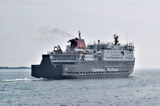 The MV Clansman departing for Oban via Coll