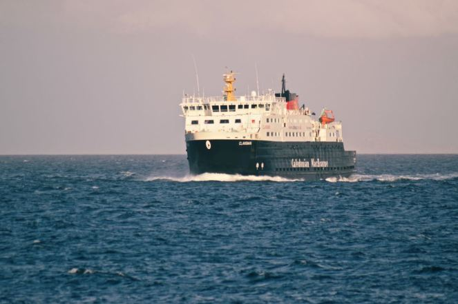 MV Clansman inbound to Tiree