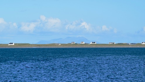 Looking across the bay to the Rum Cuillin