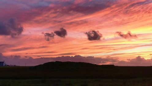 The colours of Autumn painted in the sky above Tiree