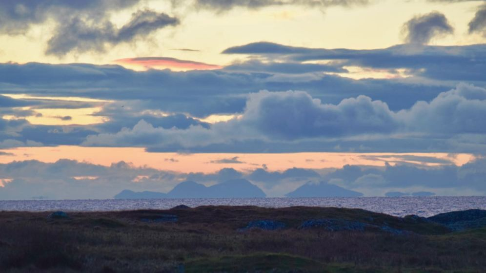 The Paps of Jura at first light - from our home