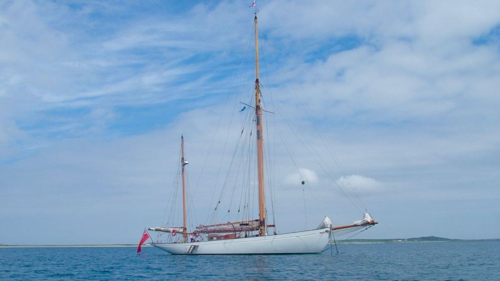 The yacht Kentra on 9th June