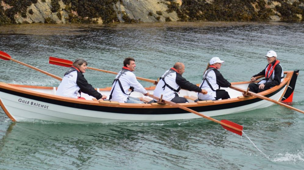 The launch of the Tiree Skiff
