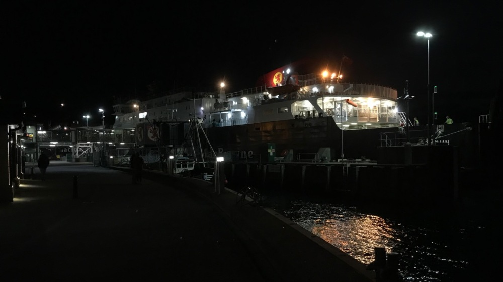 Night view of Oban Ferry Terminall