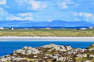 The view from Vaul towards the Isle of Mull and the Dutchman's Cap