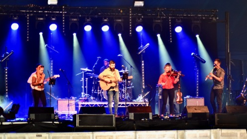Celtic Worship in the Big Top at Tiree Music Festival.
