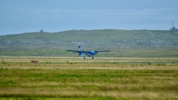 The Twin Otter touches down