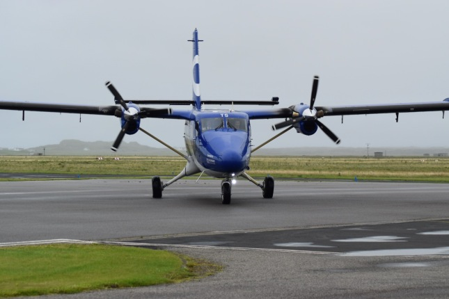 The Twin Otter on the stand